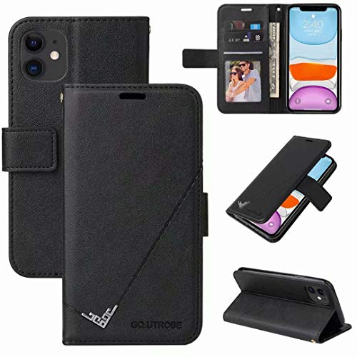Samsung Galaxy A02S Case, Shock-Absorption PU Leather Wallet Cases with Kickstand Card Slots Magnetic Slim Fit Flip Notebook Shockproof Bumper Protective Phone Case for Samsung Galaxy A02S black
