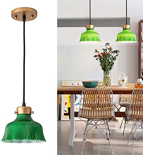 Modern Pendant Lights with Green Glass Shade Unique and Fancy Light Pendant Contemporary Adjustable product image