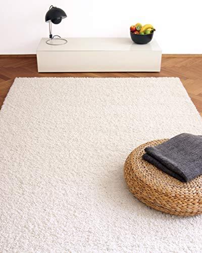 Tappeto moderno Colors bianco 200x200cm - tappeto shaggy pelo lungo super economico