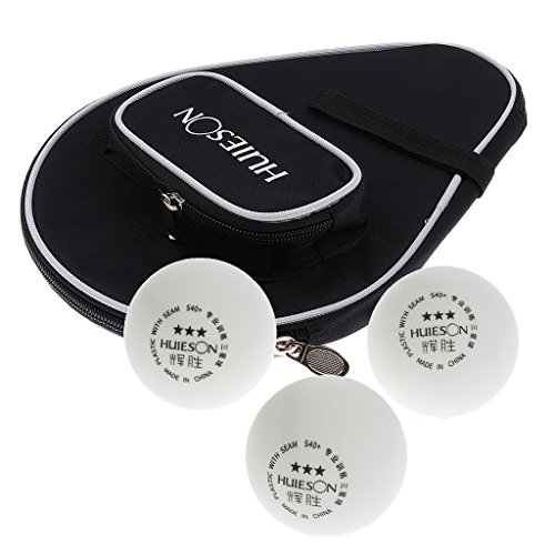 Great Price! Toygogo Table Tennis Racket Case Pingpong Paddle Cover with Ball Pouch + 3Pcs Balls