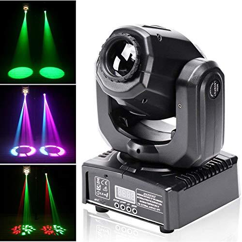 UKing Cabezas Moviles LED 50W Luz de Escenario DMX 512 RGBW Iluminacion DJ Moving Head Foco Luces de la Etapa 9/11 Canales Luces discoteca para KTV, Bar, Club, Fiesta, Boda