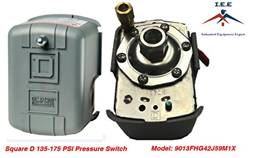 Square D 135-175 PSI Air Compressor Pressure Switch Control Valve 9013FHG42J59M1X