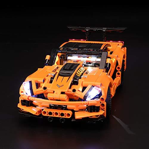 BRIKSMAX Kit de Iluminación Led para Lego Technic Chevrolet Corvette ZR1, Compatible con Ladrillos de Construcción Lego Modelo 42093, Juego de Legos no Incluido