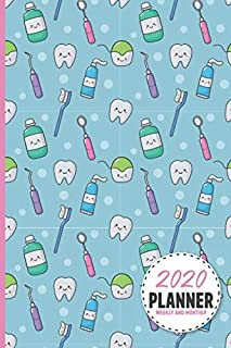 Cute Dentist Equipment Pattern 2020 Planner Weekly And Monthly: Calendar Schedule and Organizer....