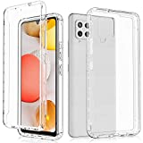 JXVM Clear Phone Case for Samsung Galaxy A42 5G, Full Body Phone Cover with Built-in Screen Protector, Shockproof Bumper, Heavy Duty Drop Proof Cases