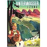 zkpzk Schweiz St.Gallen Tourismus Poster Unterwasser