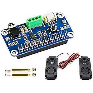 Audio HAT Module for Raspberry Pi 4B/3B+/3B/2B/B+/A+/Zero/Zero W/Pi Zero WH,WM8960 Hi-Fi Sound Card HAT Stereo CODEC…