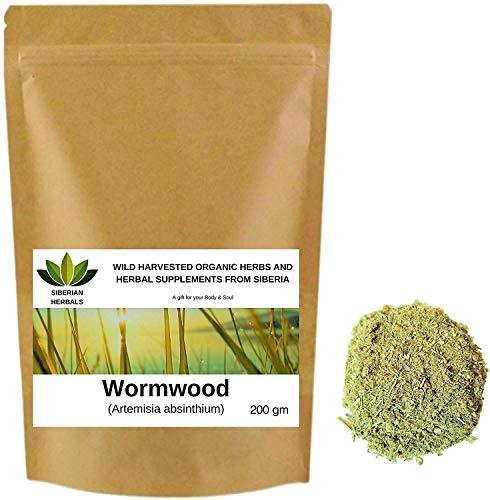 Wormwood (Artemisia Absinthium) Wild Harvested Organic ПОЛЫНИ ГОРЬКОЙ from Altai Mountains, Siberia, Russia. (200 gm)