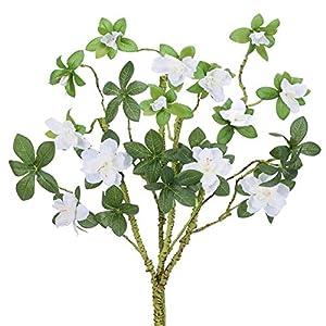 AILANDA 4PCS Artificial Flowers Magnolia White 28″ Long Stem Silk Flower Arrangement Fake Faux Floral Bouquets for Home Wedding Party Kitchen Table Centerpiece