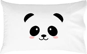 Oh, Susannah Cute Panda Face Toddler Size Pillowcase (1 Pillow Cover 14 x 20.5 Inches) Kids Pillow Case Room Decor