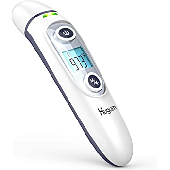 Medical Forehead and Ear Thermometer for Baby, Kids and Adults - Infrared Digital Thermometer with Fever Indicator…