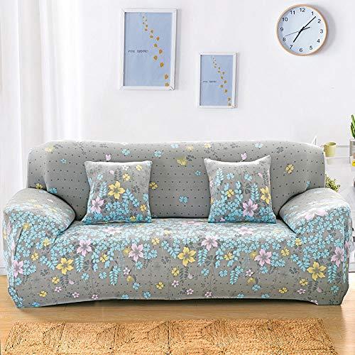 Fundas para Sofa Floral Fundas Sofá,Universal Funda Cubre Sofas Ajustables, Antideslizante Protector Cubierta de Muebles(235-310cm)