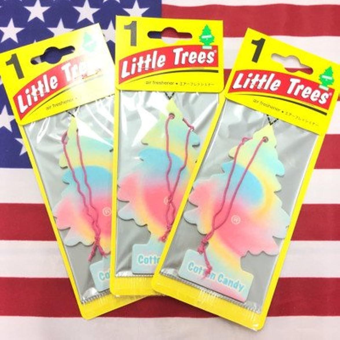 放牧する温度計手順リトルツリー コットンキャンディー エアフレッシュナー 3枚セット Cotton Candy Little Trees 芳香剤 フレグランス