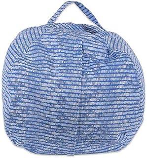 DII Large Sit 'n Stuff Children's Bean Bag Cover, Fill With Stuffed Animals, Keeping Score Print - Bright Blue [並行輸入品]