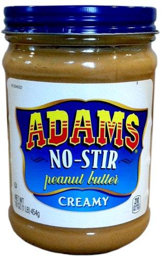 Adams NO-STIR Natural CREAMY PEANUT BUTTER