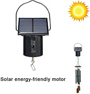 Unique Solar Motor Metal Wind Rotator,Motor Solar Powered Wind Spinner Hanging Metal Large Electric Tool,Easy to Use on/off Switch,162 x 45 mm
