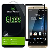 [2-Pack] Dmax Armor for ZTE Axon 7 Screen Protector, (Full Screen Coverage) [Tempered Glass] Anti-Scratch, Anti-Fingerprint, Bubble Free, (Black)
