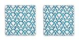Homevibes Cojín para Silla, Juego de 2 Cojines de 40 x 40 x 7 cm de 100% Algodon para Interior y...