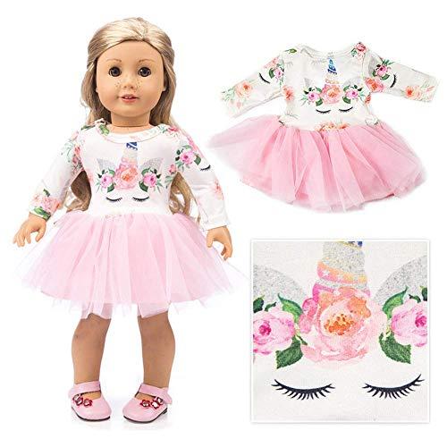 Guillala Puppe Pyjamas Nachtwäsche Süße Nachtwäsche Nachtwäsche Puppenkleidung für 18 Zoll American Girl Unsere Generation Reise Mädchen Puppe Kinder Geschenk