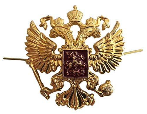Russische Armee Militäruniform 2-köpfiger Adler Hut Mütze Baskenmütze Metall Abzeichen