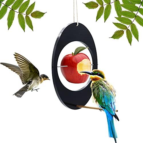 Oriole Vogelfutterstation für draußen, Premium-Hängekunst, schwarz, ovale Form, für Wildvögel, Kolibri, Obst-Futterspender für Vogelbeobachtung, Garten, Hof,...