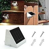 Lámpara de seguridad para jardín, 4 LED, funciona con energía solar, resistente al agua