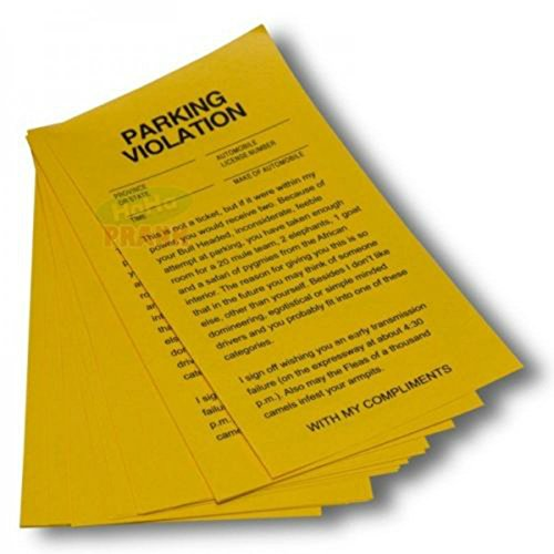 Unbranded Parking Violation Yellow Revenge Fake Parking Tickets(25 Tickets)- Gag Prank Gift Revenge