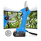 YKLP 21V Lithium Battery Rechargeable Wireless Electric Scissors Pruning Shears Tree Garden Tool 30mm (1.2 Inch)