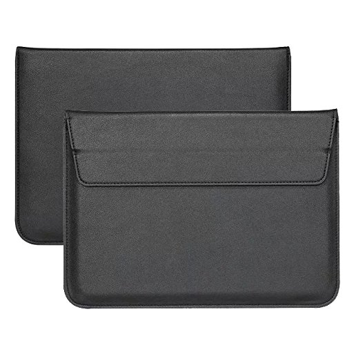 PU Leather Breifcase Stand Carrying Sleeve for Lenovo Miix 630 12.3 / Miix 520 12.2 / ThinkPad X1 Tablet G3 (2018) / Eve V 12.3 / HP Envy x2 4G LTE 12.3 / Microsoft Surface Pro LTE 12.3 (Black)