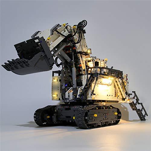 RTMX&kk Kit de Iluminación LED para Excavadora Liebherr R 9800 Modelo de Bloques de Construcción, Conjunto Luces Compatible con Lego 42100 (Modelo Lego no Incluido)