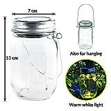 Gadgy ® Solarglas Einmachglas | Set 3 Stück mit 5 LED's | Warmweiß Licht | Solar Lampe für Außen | Garten Laterne - 4