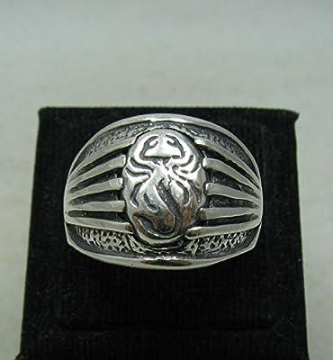 Bague en argent massif 925 Chevalier Scorpion R001153