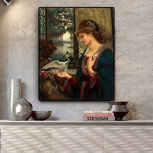 Geiqianjiumai portretolieschilderijlijst en -affiche op woonkamerwand
