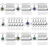 108 Pièces Boucle d'Oreille en Acier Inoxydable Crochets de