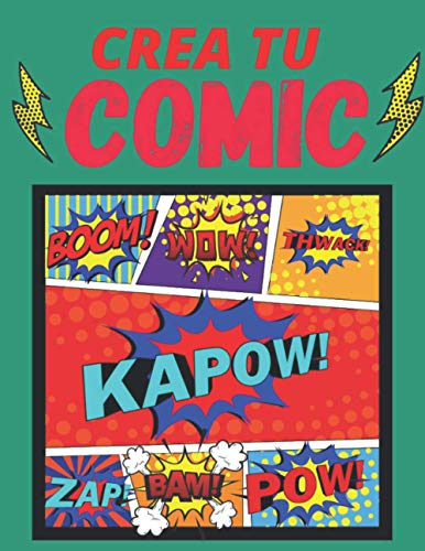 crea tu comics: 120 originales plantillas de cómics en blanco para adultos, adolescentes y niños, libro regalos, Cuaderno de dibujo para adultos