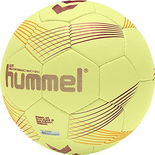 hummel 212549 Unisex-Adult Elite HB Handball, Yellow/ORANGE/RED, 2