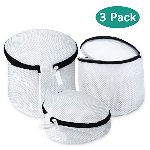 Büstenhalter Wäschebeutel, PaiTree Wäschebeutel für die Waschmaschine, haltbarer Netz-Wäschebeutel mit Reißverschluss für Unterwäsche, Feines und Socken (3er Set).