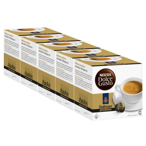 Nescafé Dolce Gusto Dallmayr Prodomo, Café, Cápsulas de Café, Paquete de 5, 5 x 16 Cápsulas