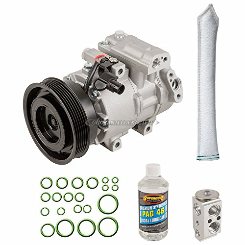 AC Compressor & A/C Kit For Kia Forte 2010 2011 2012 2013 - Includes Drier, Expansion Valve, PAG Oil & O-Ring Seals - BuyAutoParts 60-82833RK New