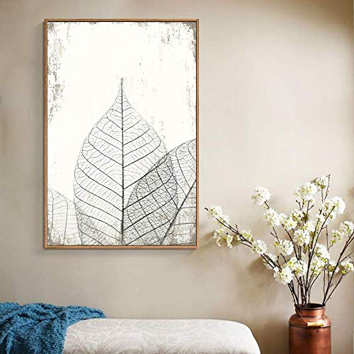 wall26 Framed Canvas Wall Art for Living Room, Bedroom Translucent Leaves II Canvas Prints for Home Decoration Ready to Hang - 24x36 inches