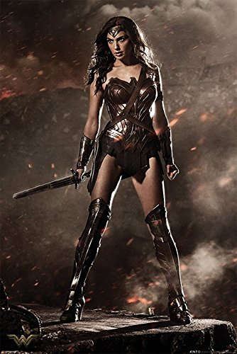 DC Comics Batman V Superman Wonder Woman Maxi Poster, Holz, mehrfarbig
