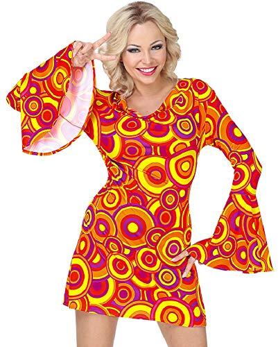 70er Jahre Retro Kostüm Bubbles für Damen - Kleid - Orange - Gr. XL