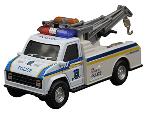 Happy Cherry-Jouet Voiture pour Enfants -Grue Mobile Camion L'échelle 1:28 - Dimensions: 15.5*6.2*7.5cm -Police