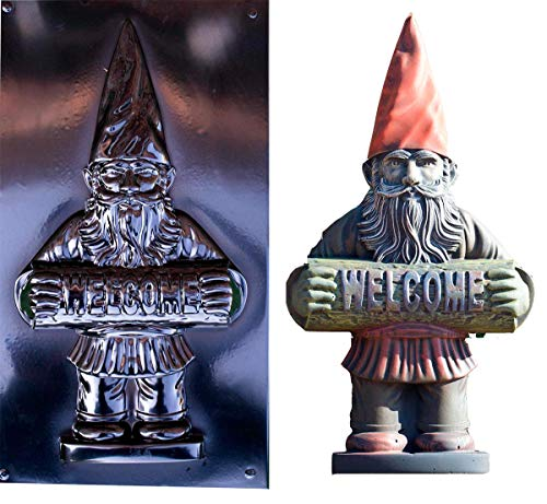 Betonex Mold Garden Gnome Welcome Casting Concrete Decor Garden Leprechaun Cement D36