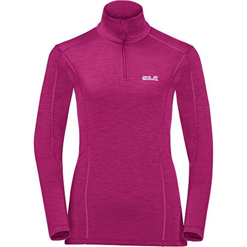 Jack Wolfskin Arctic XT Half Zip Pullover Femme, Fuchsia, FR : 2XL (Taille Fabricant : 6)