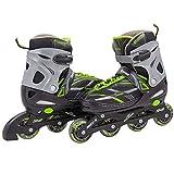 Chicago Skates Boys Blazer Adjustable in Line Skate, Green, Large, (5 - 9) (CRSMA8BL-LG)