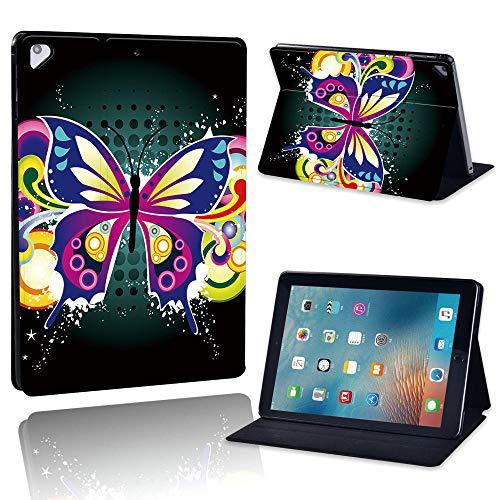 zhishen Funda de Cuero PU para Tableta para iPad Air/Air 2 Funda para Tableta con Soporte abatible a Prueba de Polvo para iPad Air 3 10.5 Pulgadas + bolígrafo-Mariposa Colorida_iPad Aire Aire 2