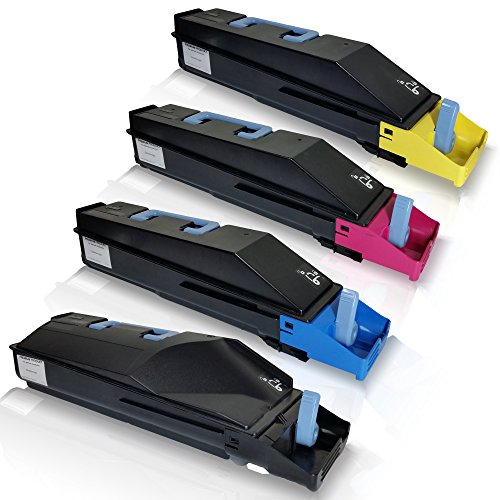 4x kompatible Tonerkartuschen für Kyocera TASKalfa 400ci TASKalfa 500ci TASKalfa 552ci TK 855K TK 855C TK 855M TK 855Y Black Cyan Magenta Yellow Sparset - Eco Plus Serie