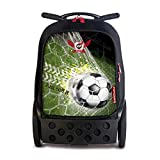 Nikidom - Roller XL Goal - Mochila con Ruedas - Medidas 53 x 38 x 23 cm - Capacidad 27 litros - Trolley Escolar - Robusto - Ergonómico - Práctico - Asa Telescópica 3 Alturas - Manillar Push/Pull