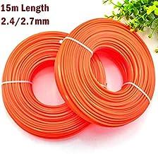 Potente Tools - Cortacésped de nailon resistente (2,4 mm, 2,7 x 15 m), color naranja